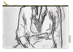 Woman In A Hat Drawing Carry-all Pouch
