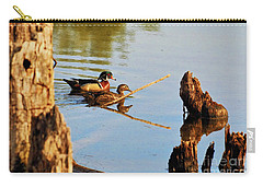 Carry-all Pouch featuring the photograph Wood Ducks by Debbie Stahre