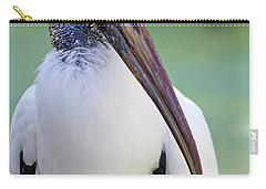 Carry-all Pouch featuring the photograph Wood Stork 40312 by Rick Veldman