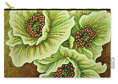 Carry-all Pouch featuring the painting Woodland Mist by Amy E Fraser