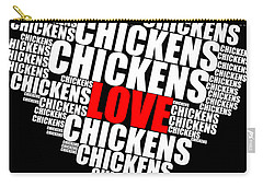 Word Cloud White Love Chickens Carry-all Pouch