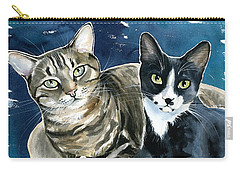 Xani And Zach Cat Painting Carry-all Pouch