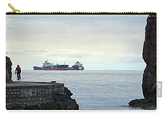 Xmas Day Seawall Cyclist Carry-all Pouch