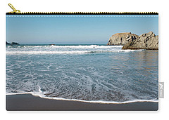 Carry-all Pouch featuring the photograph Yachats Oregon Beach Wave 101818 by Rospotte Photography