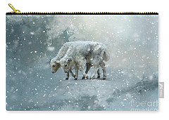 Yaks Calves In A Snowstorm Carry-all Pouch