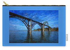 Yaquina Bay Bridge From South Beach Carry-all Pouch