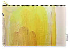 Carry-all Pouch featuring the painting Yellow #3 by Maria Langgle
