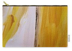 Carry-all Pouch featuring the painting Yellow #5 by Maria Langgle