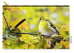 Carry-all Pouch featuring the photograph Yellow Bird by Top Wallpapers