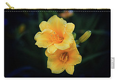Carry-all Pouch featuring the photograph Yellow Duo by Milena Ilieva