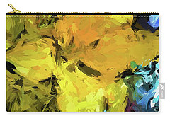 Yellow Flower And The Eggplant Floor Carry-all Pouch