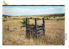 Yellow Grass And Fence Anchor Carry-all Pouch