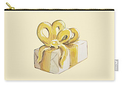 Carry-all Pouch featuring the painting Yellow Present by Maria Langgle