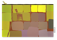 Carry-all Pouch featuring the digital art Yellow Room by Attila Meszlenyi