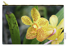 Yellow Spotted Orchids Carry-all Pouch