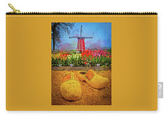 Yellow Wooden Shoes Carry-all Pouch