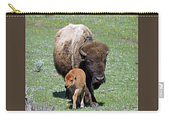 Yellowstone Bison And Calf Carry-all Pouch