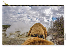 Carry-all Pouch featuring the photograph Yellowstone By Photo Dog Jackson by Matthew Irvin