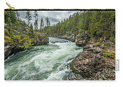 Carry-all Pouch featuring the photograph Yellowstone River Falling by Matthew Irvin