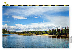 Carry-all Pouch featuring the photograph Yellowstone River by Mike Braun