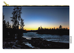 Carry-all Pouch featuring the photograph Yellowstone River by Pete Federico