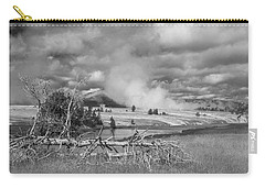 Carry-all Pouch featuring the photograph Yellowstone Steam by Matthew Irvin