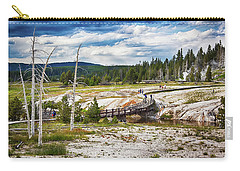 Carry-all Pouch featuring the photograph Yellowstone Trails In The Geyeser Basin by Tatiana Travelways