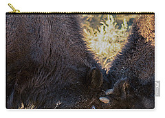 Carry-all Pouch featuring the photograph Young Bison by Pete Federico
