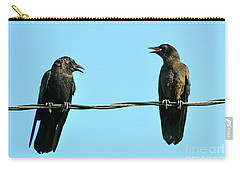 Young Crow Chatting With Mom Carry-all Pouch