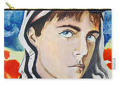 Carry-all Pouch featuring the painting Youth And Zebra Stripes by Rene Capone