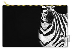 Carry-all Pouch featuring the photograph Zebra Drama by Kay Brewer