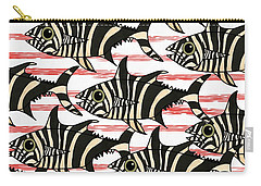 Zebra Fish 6 Carry-all Pouch