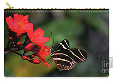 Zebra Longwing Butterfly Carry-all Pouch