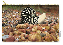 Zebra Nautilus Shell On Bauxite Beach Carry-all Pouch