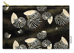 Zebra Pattern Nautilus Shells6 Carry-all Pouch