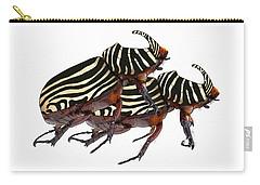 Zebra Pattern Rhinoceros Beetle 2 Carry-all Pouch