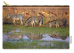 Zebras In Botswana Carry-all Pouch