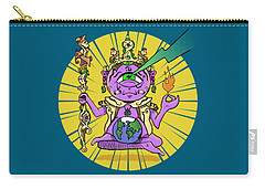 Carry-all Pouch featuring the digital art Zen by Sotuland Art