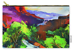 Zion - The Watchman And The Virgin River Carry-all Pouch