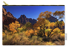 Carry-all Pouch featuring the photograph Zions Beauty by Tassanee Angiolillo