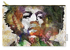 Rock And Roll Jimi Hendrix Music Carry-All Pouches