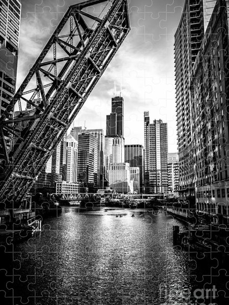 Chicago Black And White Jigsaw Puzzles