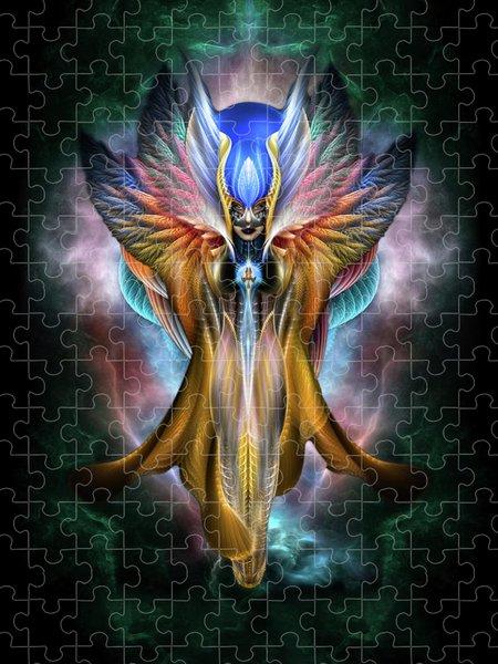 Xzendor7 Custom Art Jigsaw Puzzles - Arsencia Ethereal Glory Fractal Portrait
