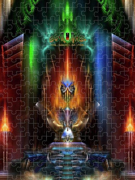 Xzendor7 Custom Art Jigsaw Puzzles - Arsencia Goddess Of Fire Fractal Composition