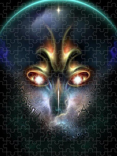 Xzendor7 Custom Art Jigsaw Puzzles - Power Of Elvgren The All Seeing Fractal Portrait