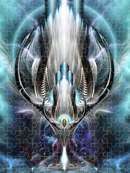 Xzendor7 Custom Art Jigsaw Puzzles - Thereenian Epoch Fractal Fantasy Art