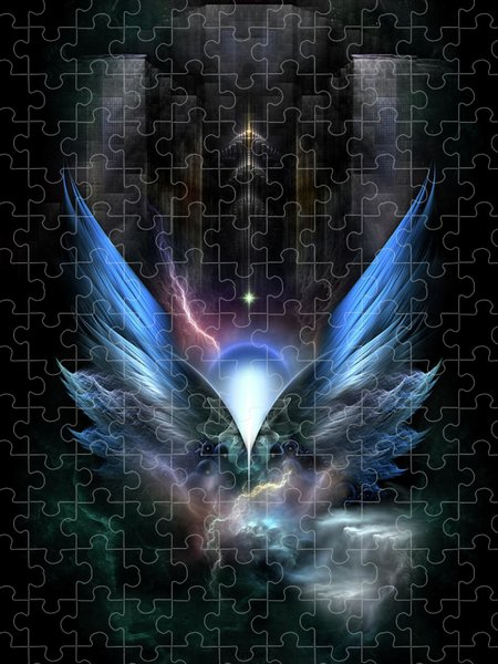 Xzendor7 Custom Art Jigsaw Puzzles - Wings Of Light Fractal Composition