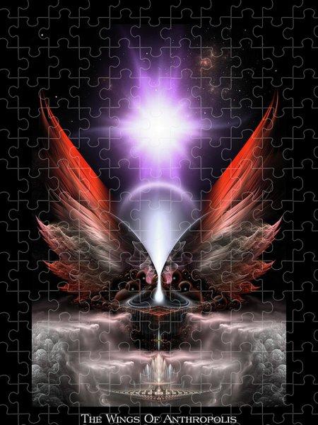 Xzendor7 Custom Art Jigsaw Puzzles - Wings Of Anthropolis HC Fractal Composition
