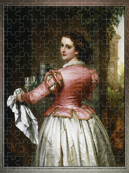 Xzendor7 Custom Art Jigsaw Puzzles - Anne Page by Thomas-Francis Dicksee
