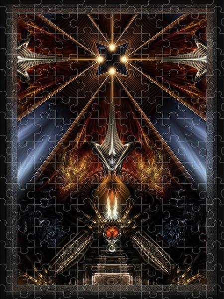 Xzendor7 Custom Art Jigsaw Puzzles - Arteknyia Fantasy Fractal Art Composition